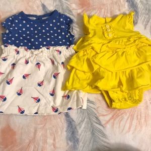 2 newborn dresses